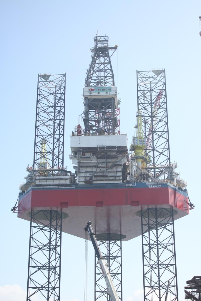 Successful Completion of Full Height Jacking Trials of Tam Dao 05 Jack up Rig